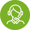 icon of person with headset