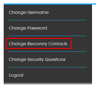 Change recovery contacts Screenshot