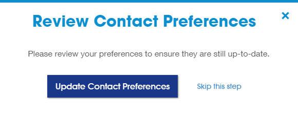 Review contact preferences Screenshot